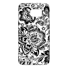 Black Floral Damasks Pattern Baroque Style Galaxy S6