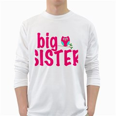 Big Sister Owl White Long Sleeve T-Shirts