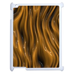 Shiny Silk Golden Apple iPad 2 Case (White)