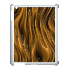 Shiny Silk Golden Apple iPad 3/4 Case (White)