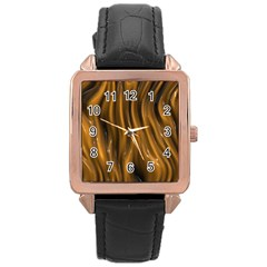 Shiny Silk Golden Rose Gold Watches