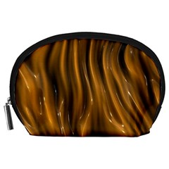 Shiny Silk Golden Accessory Pouches (Large)