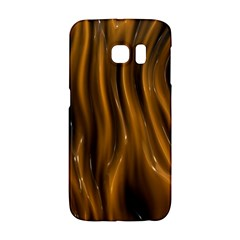 Shiny Silk Golden Galaxy S6 Edge