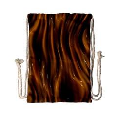 Shiny Silk Golden Drawstring Bag (Small)