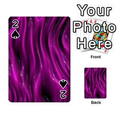 Shiny Silk Pink Playing Cards 54 Designs