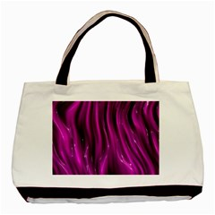 Shiny Silk Pink Basic Tote Bag (Two Sides)