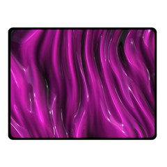 Shiny Silk Pink Fleece Blanket (small)
