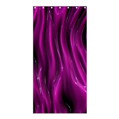 Shiny Silk Pink Shower Curtain 36  X 72  (stall)