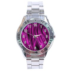 Shiny Silk Pink Stainless Steel Men s Watch