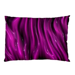 Shiny Silk Pink Pillow Cases (Two Sides)