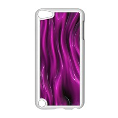 Shiny Silk Pink Apple iPod Touch 5 Case (White)