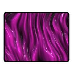 Shiny Silk Pink Double Sided Fleece Blanket (Small)