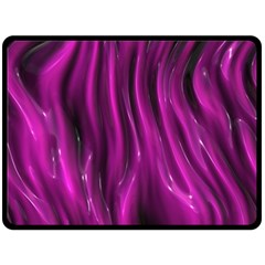 Shiny Silk Pink Double Sided Fleece Blanket (large)