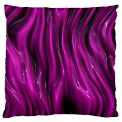 Shiny Silk Pink Standard Flano Cushion Cases (Two Sides)