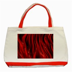 Shiny Silk Red Classic Tote Bag (red)