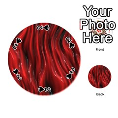 Shiny Silk Red Playing Cards 54 (Round)
