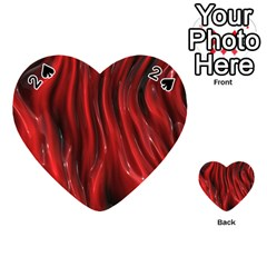 Shiny Silk Red Playing Cards 54 (Heart)