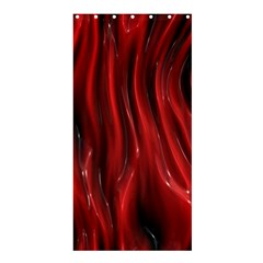 Shiny Silk Red Shower Curtain 36  X 72  (stall)