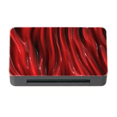 Shiny Silk Red Memory Card Reader with CF