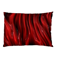 Shiny Silk Red Pillow Cases (Two Sides)