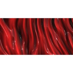 Shiny Silk Red You Are Invited 3d Greeting Card (8x4)