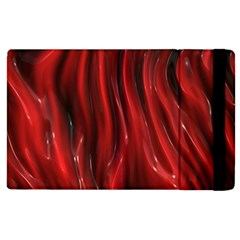 Shiny Silk Red Apple iPad 3/4 Flip Case