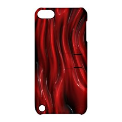 Shiny Silk Red Apple iPod Touch 5 Hardshell Case with Stand