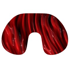 Shiny Silk Red Travel Neck Pillows