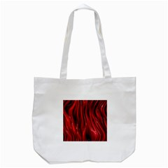 Shiny Silk Red Tote Bag (White)