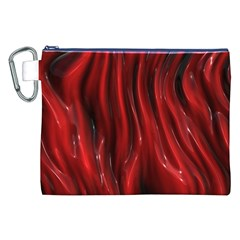 Shiny Silk Red Canvas Cosmetic Bag (XXL)