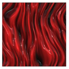 Shiny Silk Red Large Satin Scarf (square)