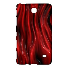 Shiny Silk Red Samsung Galaxy Tab 4 (7 ) Hardshell Case