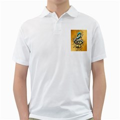 Music, Clef With Fairy And Floral Elements Golf Shirts