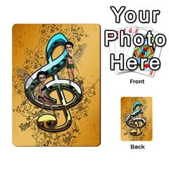 Music, Clef With Fairy And Floral Elements Multi Purpose Cards (rectangle)
