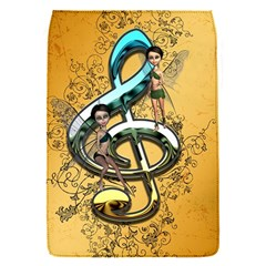 Music, Clef With Fairy And Floral Elements Flap Covers (S)