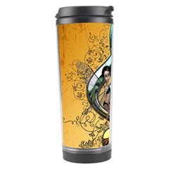 Music, Clef With Fairy And Floral Elements Travel Tumblers