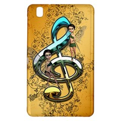 Music, Clef With Fairy And Floral Elements Samsung Galaxy Tab Pro 8.4 Hardshell Case