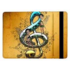 Music, Clef With Fairy And Floral Elements Samsung Galaxy Tab Pro 12.2  Flip Case