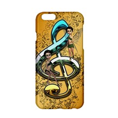 Music, Clef With Fairy And Floral Elements Apple iPhone 6/6S Hardshell Case