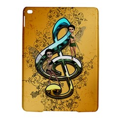 Music, Clef With Fairy And Floral Elements iPad Air 2 Hardshell Cases