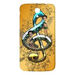 Music, Clef With Fairy And Floral Elements Samsung Galaxy Mega I9200 Hardshell Back Case