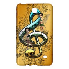 Music, Clef With Fairy And Floral Elements Samsung Galaxy Tab 4 (8 ) Hardshell Case