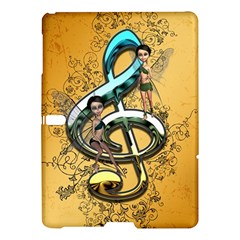 Music, Clef With Fairy And Floral Elements Samsung Galaxy Tab S (10 5 ) Hardshell Case