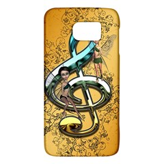 Music, Clef With Fairy And Floral Elements Galaxy S6