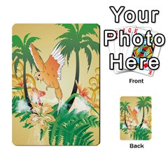 Funny Budgies With Palm And Flower Multi-purpose Cards (Rectangle)
