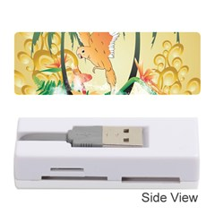 Funny Budgies With Palm And Flower Memory Card Reader (Stick)