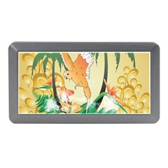 Funny Budgies With Palm And Flower Memory Card Reader (Mini)