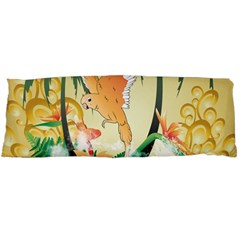 Funny Budgies With Palm And Flower Body Pillow Cases Dakimakura (Two Sides)