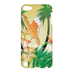 Funny Budgies With Palm And Flower Apple iPod Touch 5 Hardshell Case
