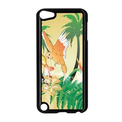 Funny Budgies With Palm And Flower Apple iPod Touch 5 Case (Black)